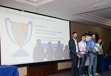 Intel premia il Team RCR Target Italia